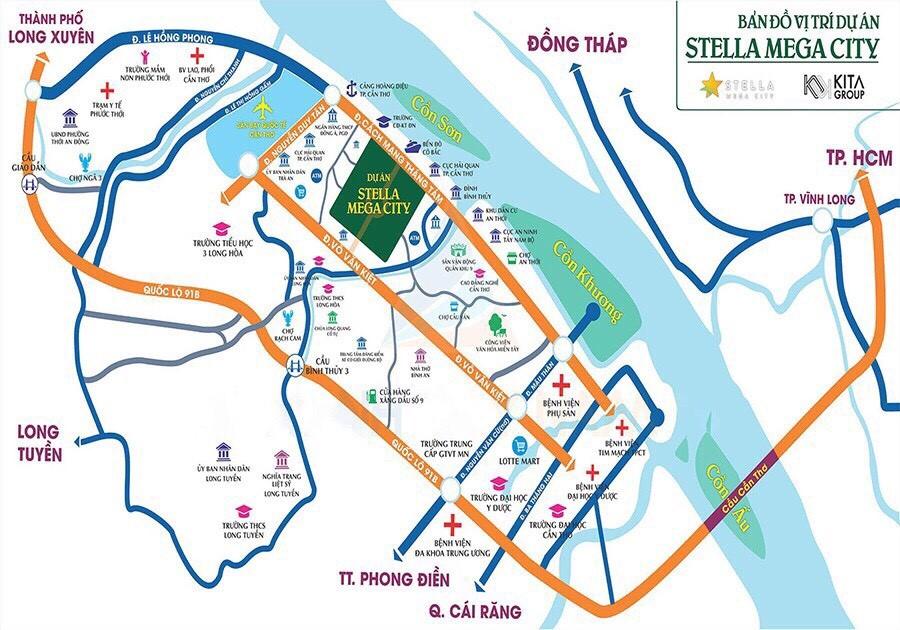 Stella Mega City Cần Thơ có vị trí vô cùng đẹp