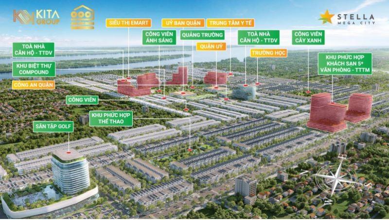 Stella Mega City tổng quan về hệ thống tiện ích