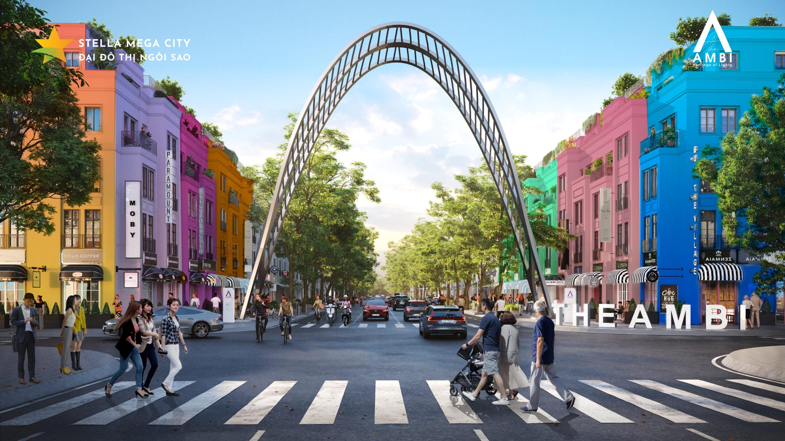 Stella Mega City Cổng vào Đại lộ ánh sáng