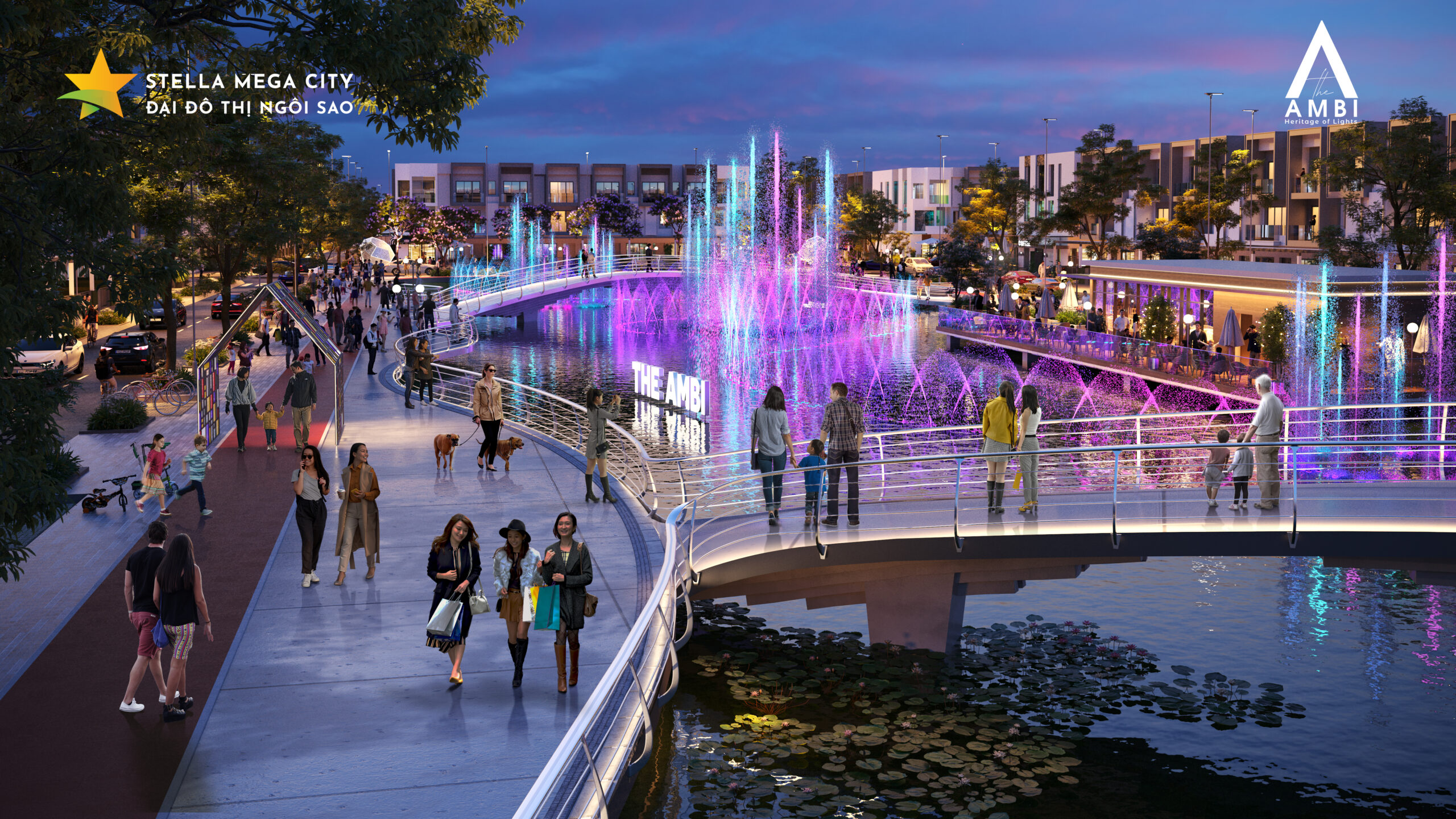Stella Mega City công viên hồ ánh sáng
