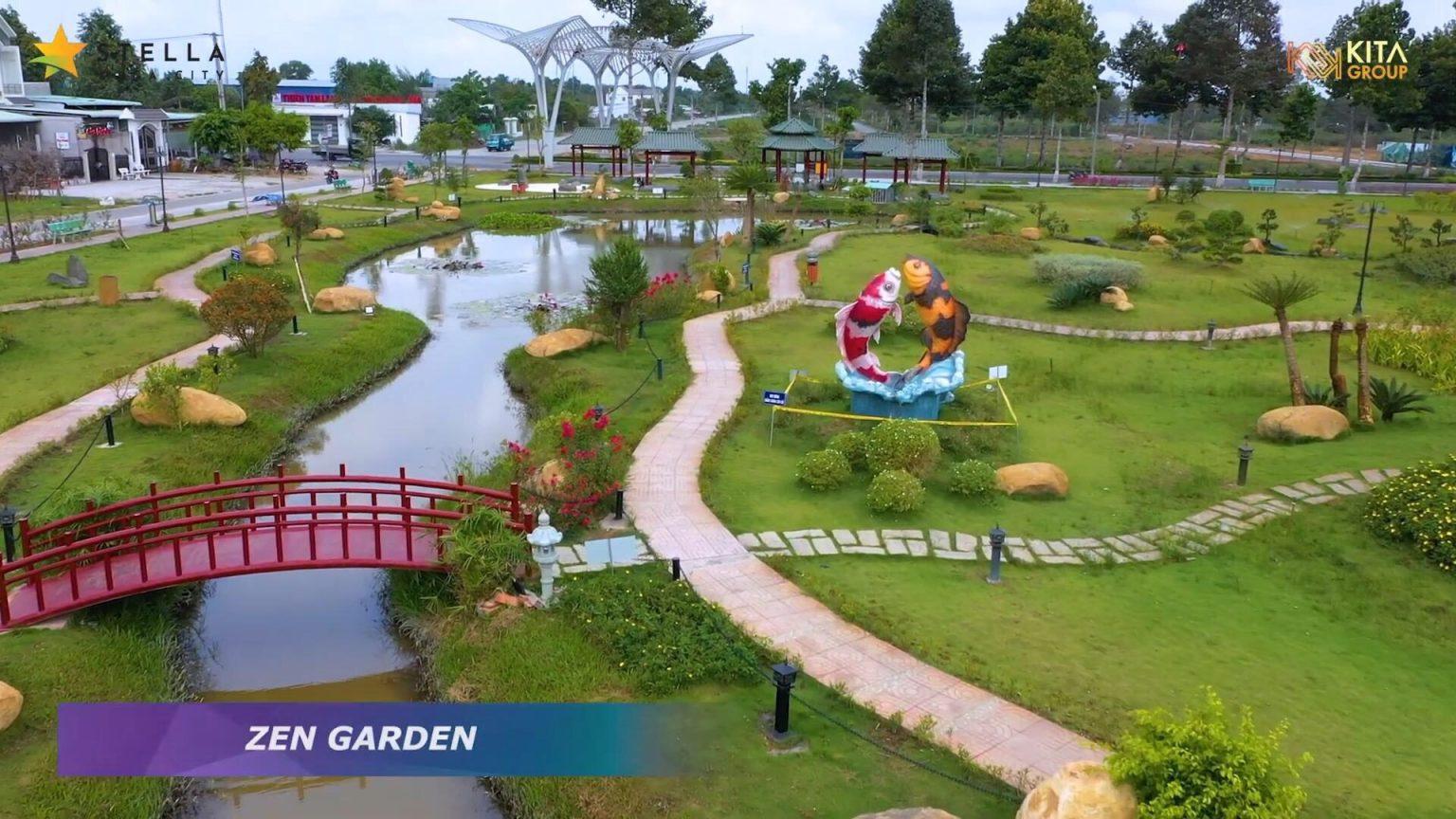 Stella Mega City công viên zen garden