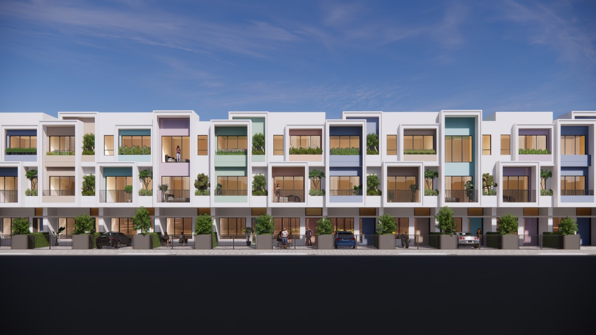 Thiết kế shophouse mặt hồ ánh sáng Stella Mega City