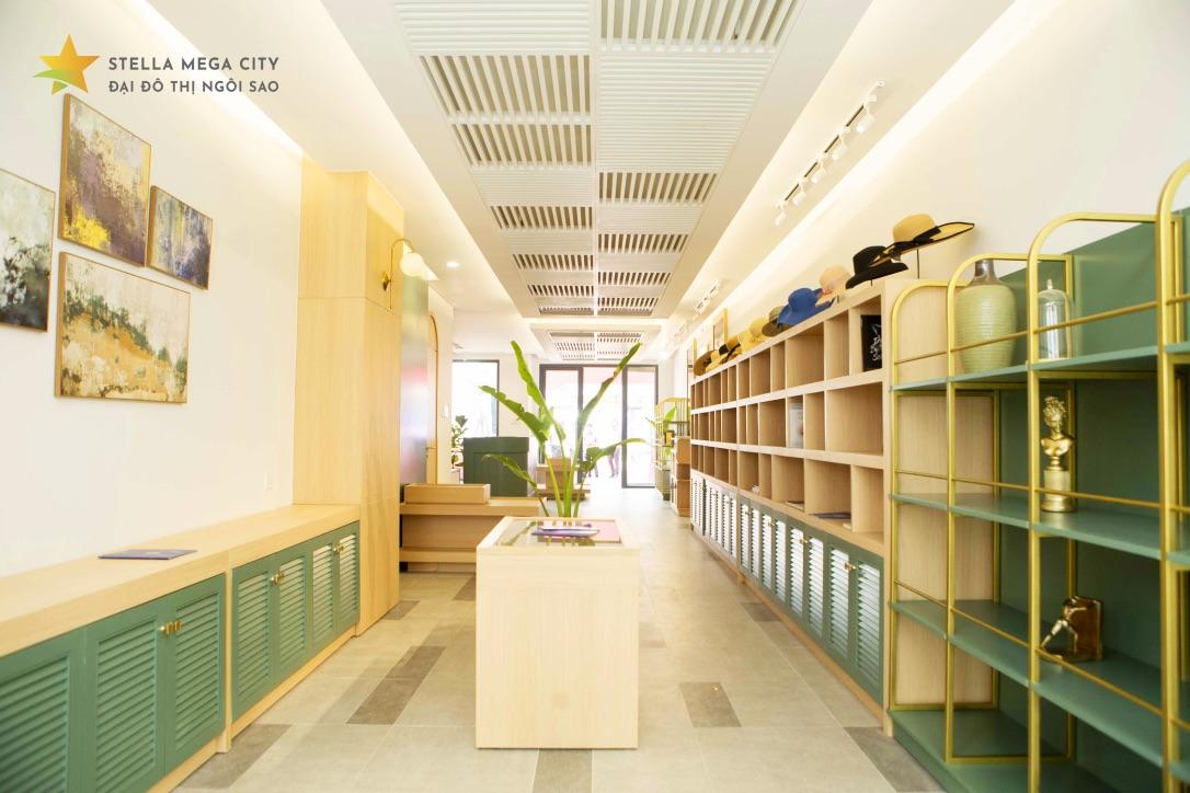 Shophouse mẫu dự án Stella Mega City 2