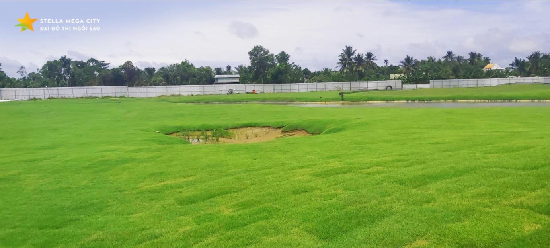 Tiến độ thi công sân tập Golf Stella Mega City