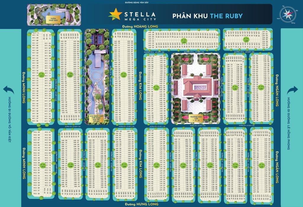 Mặt bằng khu Ruby dự án Stella Mega City